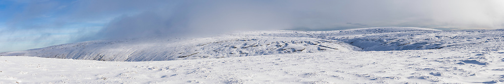 Auchope Cairn (726m). Looking east towards the Big Cheviot (815m) and Cairn Hill (777m).