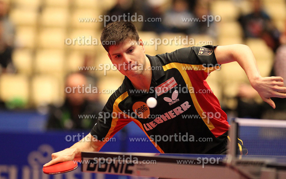 20.10.2012, MGH Arena, Herning, DEN, ETTU, Tischtennis Europameisterschaft, im Bild Dimitrij OVTCHAROV (GER) bei der Ballannahme // during the Table Tennis European Championships at the MGH Arena, Herning, Denmark on 2012/10/20. EXPA Pictures © 2012, PhotoCredit: EXPA/ Eibner/  Wuest..*****ATTENTION - OUT OF GER *****