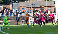 Ryan McCord scores Arbroath's equaliser in injury time - Arbroath v Annan Athletic in the SPFL League 2 at Gayfield, Arbroath. Photo: David Young<br /> <br />  - &copy; David Young - www.davidyoungphoto.co.uk - email: davidyoungphoto@gmail.com