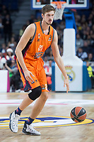 Valencia Basket Tibor Pleiss during Turkish Airlines Euroleague match between Real Madrid and Valencia Basket at Wizink Center in Madrid, Spain. December 19, 2017. (ALTERPHOTOS/Borja B.Hojas)
