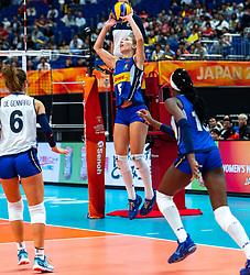 19-10-2018 JPN: Semi Final World Championship Volleyball Women day 18, Yokohama<br /> China - Netherlands / Ofelia Malinov #5 of Italy