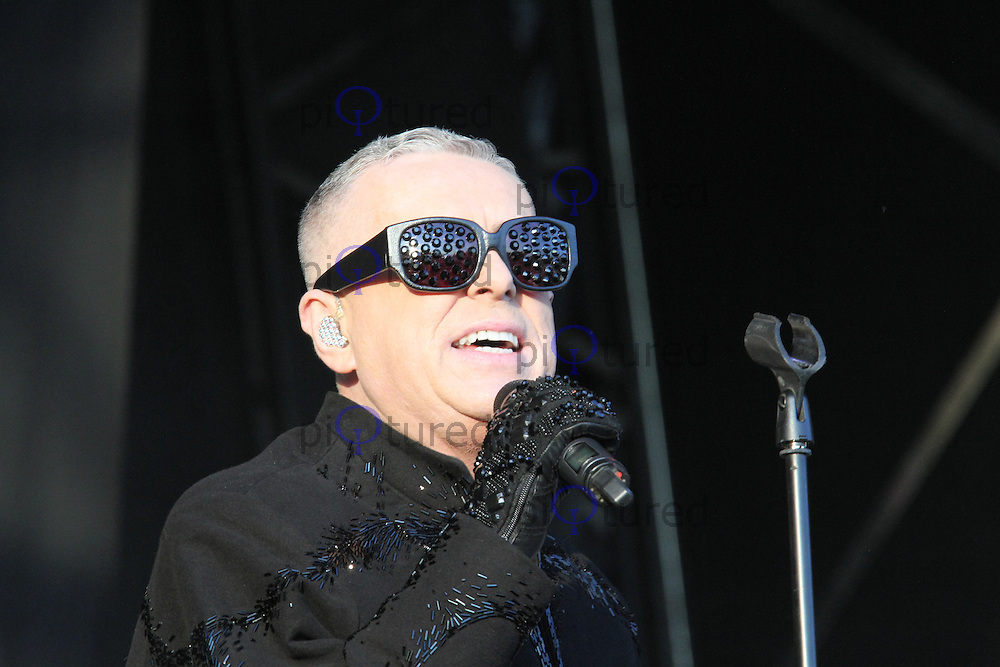 Holly Johnson, As One In The Park, Victoria Park, London UK, 26 May 2013, (Photo by Richard Goldschmidt)