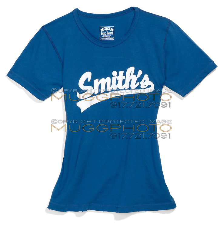 smith's blue t-shirt