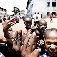 Harare, Zimbabwe 17 November 2007<br /> Children of Nyerere Flats, popular district of the south zone of Harare. With a literacy of around 80%, one of the highest in Africa, the post-colonial Zimbabwe set its credentials as the &quot;Jewel of Africa&quot;. A situation quickly deteriorating to the introduction of fees unbearable to most families and due to the exodus of teachers abroad.<br /> Photo: Ezequiel Scagnetti