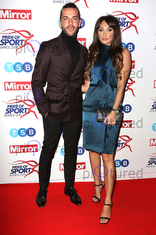 Megan McKenna, Pete Wicks, Pride of Sport Awards, Grosvenor House Hotel, London UK, 07 December 2016, Photo by Richard Goldschmidt