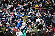 Dundee fans at the end - Hearts v Dundee - SPFL Premiership at Tynecastle<br /> <br />  - &copy; David Young - www.davidyoungphoto.co.uk - email: davidyoungphoto@gmail.com