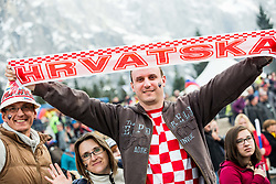 Supporter of Croatia during the Ski Flying Hill Individual Competition on Day Two of FIS Ski Jumping World Cup Final 2017, on March 24, 2017 in Planica, Slovenia. Photo by Vid Ponikvar / Sportida