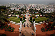 Day 1 - The Baha'i Gardens in the city of Haifa, Israel. (Photo by Brian Garfinkel)
