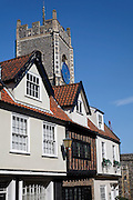 St George Tombland church and historic houses, Norwich, England