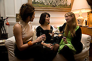 RACHEL STIRLING; SHARON STIRLING; CLEMENTINE FRASER, Book launch for American's in Paris by Charles Glass hosted by Lady Annabel Lindsay. Holland Park. London. 25 March 2009 *** Local Caption *** -DO NOT ARCHIVE-© Copyright Photograph by Dafydd Jones. 248 Clapham Rd. London SW9 0PZ. Tel 0207 820 0771. www.dafjones.com.<br /> RACHEL STIRLING; SHARON STIRLING; CLEMENTINE FRASER, Book launch for American's in Paris by Charles Glass hosted by Lady Annabel Lindsay. Holland Park. London. 25 March 2009