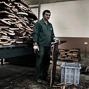 Cork industry in Portugal, Amorim Cortiça..fabric is Coruche.
