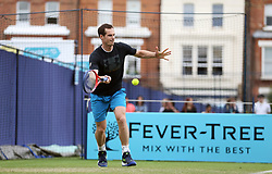 Andy Murray practices ahead of the 2018 Fever-Tree Championships at Queen's Club, London.