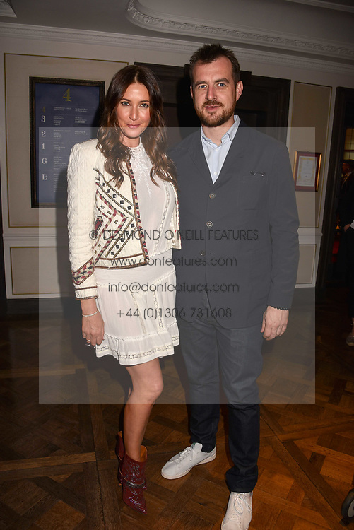 Lisa Snowdon and George Smart at the 2017 Fortnum &amp; Mason Food &amp; Drink Awards held at Fortnum &amp; Mason, Piccadilly London England. 11 May 2017.<br /> Photo by Dominic O'Neill/SilverHub 0203 174 1069 sales@silverhubmedia.com