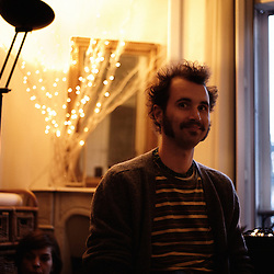 Forest City Lovers showcasing at a private apartment show, for the Soiree de Poche 9 bis. Paris, France. 29th April 2009. Photo: Antoine Doyen