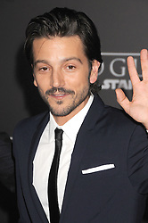 December 10, 2016 - Los Angeles, California, United States - December 10th 2016 - Los Angeles California USA - Actor DIEGO LUNA   at the World Premiere for ''Rogue One Star Wars'' held at the Pantages Theater, Hollywood, Los Angeles  CA (Credit Image: © Paul Fenton via ZUMA Wire)