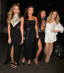 Perrie Edwards, Leigh-Anne Pinnock, Jesy Nelson and Jade Thirlwall arriving at the Little Mix 'Black Magic' party at Steam & Rye in London, UK. 20/07/2015<br />BYLINE MUST READ : GOTCHAIMAGES.COM<br /><br />Copyright by © Gotcha Images Ltd. All rights reserved.<br />Usage of this image is conditional upon the acceptance <br />of Gotcha Images Ltd, terms and conditions available at<br />www.gotchaimages.com