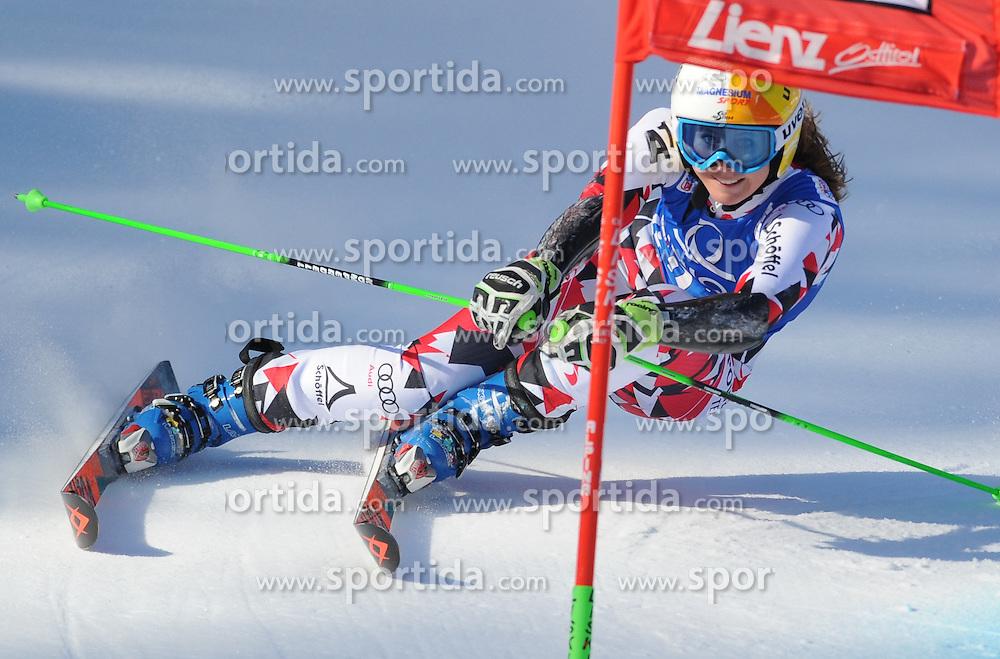 28.12.2015, Hochstein, Lienz, AUT, FIS Weltcup Ski Alpin, Lienz, Riesenslalom, Damen, 1. Durchgang, im Bild Cornelia Huetter (AUT) // Cornelia Huetter of Austria during 1st run of ladies Giant Slalom of the Lienz FIS Ski Alpine World Cup at the Hochstein in Lienz, Austria on 2015/12/28. EXPA Pictures © 2015, PhotoCredit: EXPA/ Erich Spiess