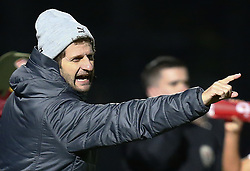 February 7, 2019 - London, England, United Kingdom - Head Coach Joe Montemurro of Arsenal .during FA Continental Tyres Cup Semi-Final match between Arsenal and Manchester United Women FC at Boredom Wood on 7 February 2019 in Borehamwood, England, UK. (Credit Image: © Action Foto Sport/NurPhoto via ZUMA Press)
