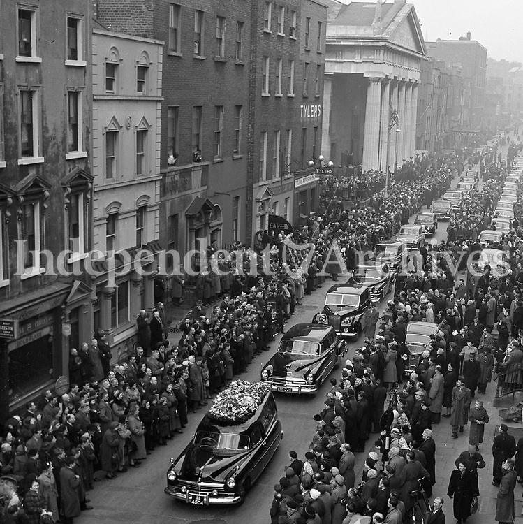 Alfie Byrne's funeral,<br />