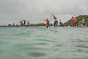 And their off!  The start to the distance SUP race on Day 4.