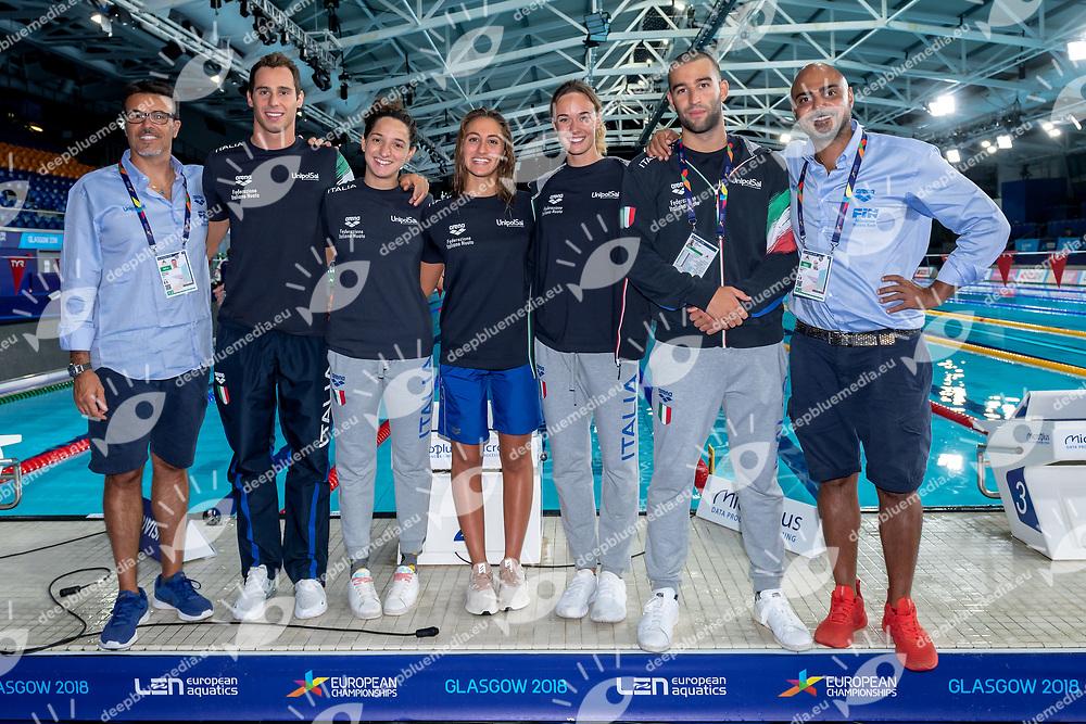 Aniene ITA <br /> Glasgow 09/08/2018 <br /> Swimming Tollcross International Swimming Centre<br /> LEN European Aquatics Championships 2018 <br /> European Championships 2018 <br /> Photo Andrea Staccioli/ Deepbluemedia /Insidefoto