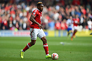 Nottingham Forest forward Britt Assombalonga (9) during the EFL Sky Bet Championship match between Nottingham Forest and Reading at the City Ground, Nottingham, England on 22 April 2017. Photo by Jon Hobley.