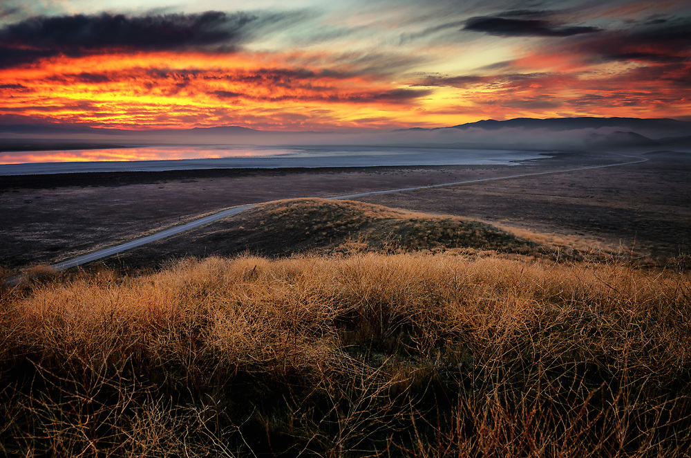 Sunrise over Soda Lake