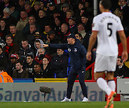 Tony Pulis Manager of Crystal Palace shouts instructions during the Barclays Premier League match at Selhurst Park, London<br /> Picture by David Horn/Focus Images Ltd +44 7545 970036<br /> 22/02/2014