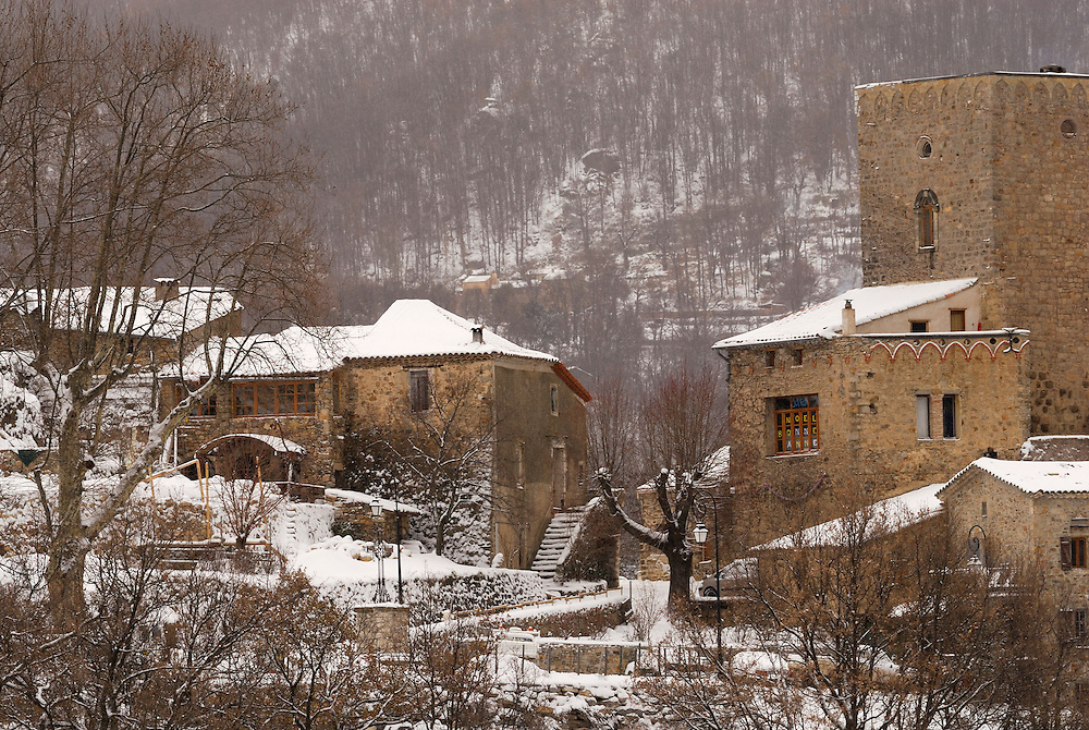 France, Languedoc Roussillon, Gard, Cévennes, hiver, Saint-Roman-de-Codières