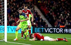 Adam Lallana of Liverpool celebrates scoring a goal to make it 1-0 - Mandatory by-line: Robbie Stephenson/JMP - 14/12/2016 - FOOTBALL - Riverside Stadium - Middlesbrough, England - Middlesbrough v Liverpool - Premier League