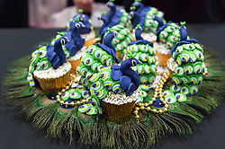 © Licensed to London News Pictures. 07/10/2016. Competition fairy cakes at The Cake & Bake Show. London, UK. Photo credit: Ray Tang/LNP