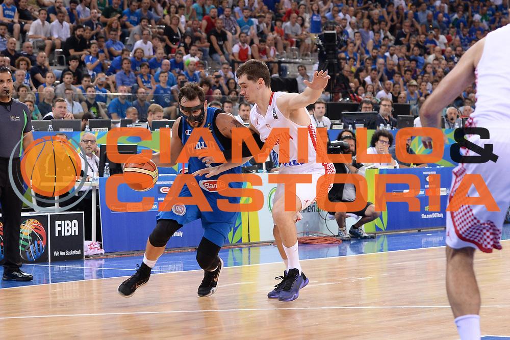 DESCRIZIONE: Torino FIBA Olympic Qualifying Tournament Finale Italia - Croazia<br /> GIOCATORE: Marco Stefano Belinelli<br /> CATEGORIA: Nazionale Italiana Italia Maschile Senior<br /> GARA: FIBA Olympic Qualifying Tournament Finale Italia - Croazia<br /> DATA: 09/07/2016<br /> AUTORE: Agenzia Ciamillo-Castoria
