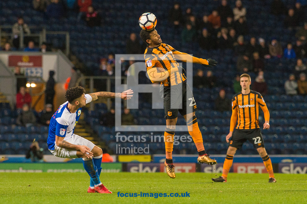 Fraizer Campbell of Hull City tries to bring the ball under control during the FA Cup match at Ewood Park, Blackburn<br /> Picture by Matt Wilkinson/Focus Images Ltd 07814 960751<br /> 06/01/2018