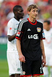 28.09.2013, BayArena, Leverkusen, GER, 1. FBL, Bayer 04 Leverkusen vs Hannover 96, 7. Runde, im Bild Stefan Kiessling #11 (Bayer 04 Leverkusen) regt sich ueber sich selbst auf // during the German Bundesliga 7th round match between Bayer 04 Leverkusen and Hannover at the BayArena, Leverkusen, Germany on 2013/09/28. EXPA Pictures © 2013, PhotoCredit: EXPA/ Eibner/ Grimme<br /> <br /> ***** ATTENTION - OUT OF GER *****