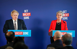 © Licensed to London News Pictures. 29/11/2019. London, UK. Former Labour MP Gisela Stuart attends a press conference with Prime Minister Boris Johnson in London. Later a seven way TV election debate will take place with senior politicians in Cardiff. Photo credit: Peter Macdiarmid/LNP