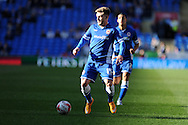 Conor McAleny of Cardiff city in action. Skybet football league championship match, Cardiff city v Charlton Athletic at the Cardiff city Stadium in Cardiff, South Wales on Saturday 7th March 2015.<br /> pic by Andrew Orchard, Andrew Orchard sports photography.