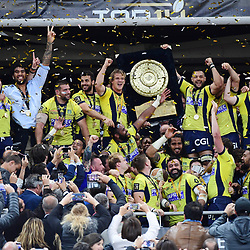 Clermont Team celebrates the victory during the the Top 14 final match between Rc Toulon and Clermont Auvergne  at Stade de France on June 4, 2017 in Paris, France. (Photo by Dave Winter/Icon Sport)