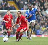 Photo: Mark Stephenson.<br /> Birmingham City v Cardiff City. Coca Cola Championship. 04/03/2007.Cardiff's Michael Chopra on the ball
