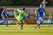 Forest Green Rovers Fabien Robert(26) shoots at goal  during the Vanarama National League match between Forest Green Rovers and Guiseley  at the New Lawn, Forest Green, United Kingdom on 22 October 2016. Photo by Shane Healey.