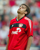 Fussball 1. Bundesliga Saison 2003/2004  Dimitar BERBATOV mit enttaeuschtem Blick BAYER 04 LEVERKUSEN