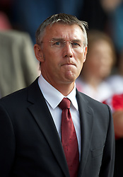 SOUTHAMPTON, WALES - Saturday, October 9, 2010: Southampton's Nigel Adkins during the Football League One match against Tranmere Rovers at the St Mary's Stadium. (Pic by David Rawcliffe/Propaganda)