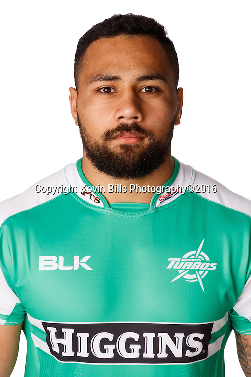 Ngari Laumape.<br /> Headshots of the Manawatu Tubos rugby team to compete in the 2016 season of the Mitre 10 Cup Premiership.<br /> Photo credit: www.manawaturugby.co.nz