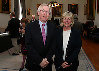 REPRO FREE***PRESS RELEASE NO REPRODUCTION FEE***<br /> Irish Sailing Awards, Royal College of Surgeons, Stephen's Green, Dublin 4/2/2016<br /> National Yacht Club sailor Liam Shanahan was named the 2015 Irish Sailor of the Year today at the Irish Sailing Awards in Dublin - Shanahan had a remarkable year, including victory in the Dun Laoghaire to Dingle race in June on his boat Ruth with two miles to spare.<br /> Kilkenny's Doug Elmes and Malahide's Colin O'Sullivan jointly took home the Irish Sailing Association (ISA) Youth Sailor of the Year award. The Howth Yacht Club sailors were hotly tipped following their recent Bronze medal success at the 2015 Youth World Championships in Malaysia, where they took Ireland's first doublehanded youth worlds medal in 19 years.<br /> The Mitsubishi Motors Sailing Club of the Year award was presented to the Royal Irish Yacht Club in honour of their success at local, national and international level.<br /> Mullingar Sailing Club took home the ISA Training Centre of the Year award, having been nominated as winners of the western-region Training Centre of the Year.<br /> Pictured is Declan Magee, president of The Royal College of Surgeons, and Ciara Dowling<br /> Mandatory Credit ©INPHO/Cathal Noonan
