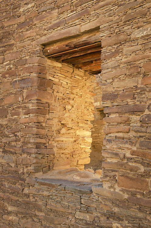Chacoan masonry at Chaco Culture National Historical Park, New Mexico