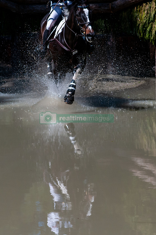 March 22, 2019 - Raeford, North Carolina, US - March 23, 2019 - Raeford, N.C., USA - A horse and rider enters the Lighthouse complex in the cross country CCI-4S division at the sixth annual Cloud 11-Gavilan North LLC Carolina International CCI and Horse Trial, at Carolina Horse Park. The Carolina International CCI and Horse Trial is one of North AmericaÃ•s premier eventing competitions for national and international eventing combinations, hosting International competition at the CCI2*-S through CCI4*-S levels and National levels of Training through Advanced. (Credit Image: © Timothy L. Hale/ZUMA Wire)