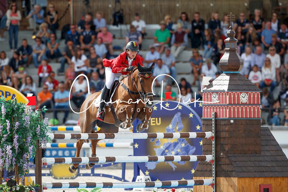 Philippaerts Anthony, BEL, Goofy van T Laerhof<br /> Children European Championships Jumping <br /> Samorin 2017&copy; Hippo Foto - Dirk Caremans<br /> 12/08/2017
