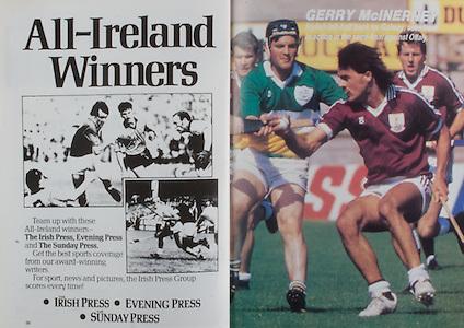 All Ireland Senior Hurling Championship Final, .04.09.1988. 09.04.1988, 4th September 1988,.4091988AISHCF,.Galway 1-15, Tipperary 0-14,.Galway v Tipperary, .The Irish Press, Evening Press, The Sunday Press,.