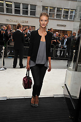 Rosie Huntington-Whiteley  at a reception hosted by Vogue and Burberry to celebrate the launch of Fashions Night Out - held at Burberry, 21-23 Bond Street, London on 10th September 2009.