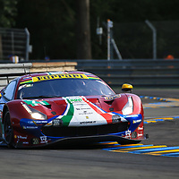 #71, AF Corse Ferrari, Ferrari 488 GTE EVO, LMGTE Pro, driven by: Davide Rigon, Sam Bird, Miguel Molina, 24 Heures Du Mans  2018, , 16/06/2018,