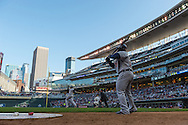 Prince Fielder #28  of the Detroit Tigers waits on-deck while Miguel Cabrera #24 bats during a game against the Minnesota Twins on April 3, 2013 at Target Field in Minneapolis, Minnesota.  The Twins defeated the Tigers 3 to 2.  Photo: Ben Krause